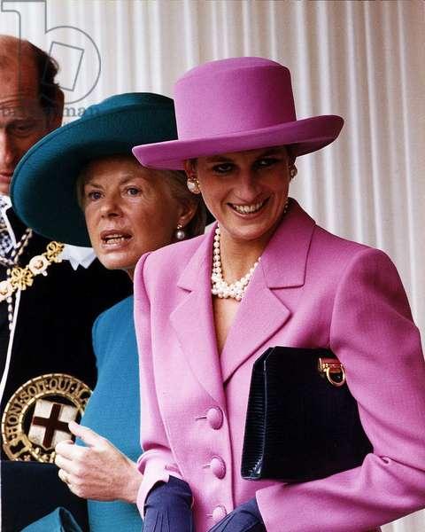 Princess Diana with Princess Michael Of Kent and Duke Of Kent, June 1993 (photo)