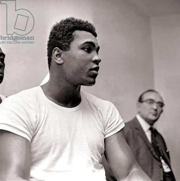 Muhammad Ali in training, August 1966 (b/w photo)