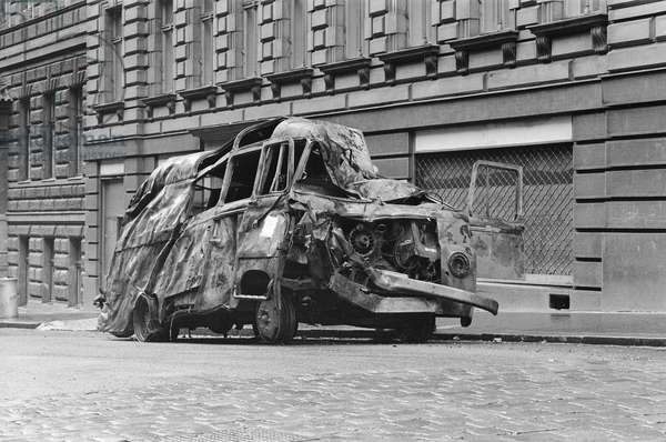 The Prague Spring, August 1968 (b/w photo)
