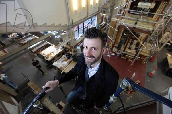 Mark Carroll visiting organ makers and restorers, 2011