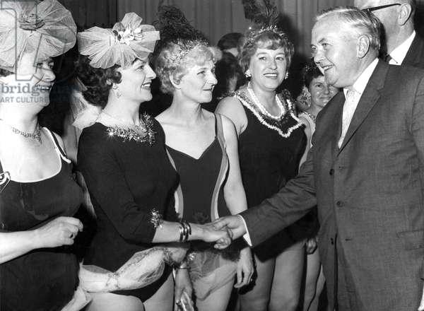 Harold Wilson meets members of the Brandon Women's Institute, Durham Miners Gala,
