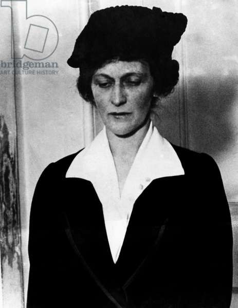 Lady Nancy Astor, with hat she wore on first entering Parliament.