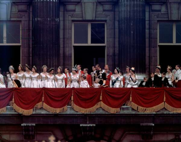 Coronation of Queen Elizabeth II, 2nd June 1953 (b/w photo)