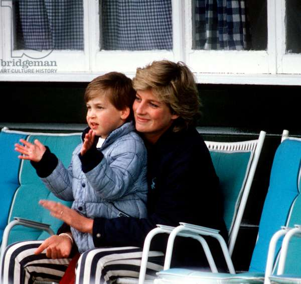 Princess Diana with Prince William at Smiths Lawn, Windsor, May 1987 (photo)