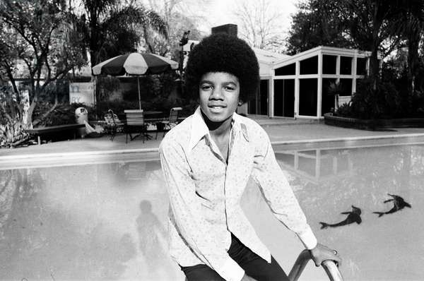 The Jackson Five at home in Los Angeles, 23rd February 1973 (b/w photo)