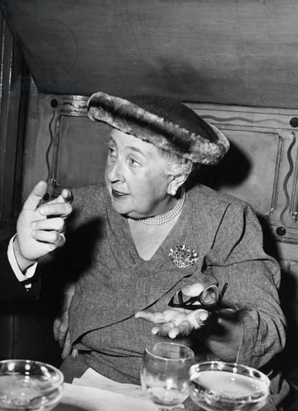 Agatha Christie, 1957 (b/w photo)