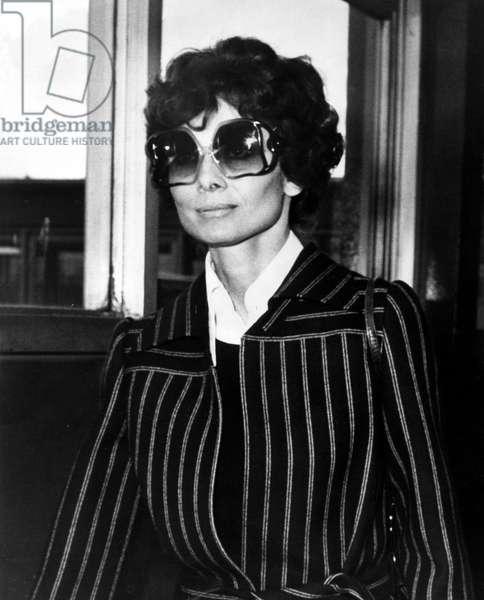 Actress Audrey Hepburn c.1975 (b/w photo)