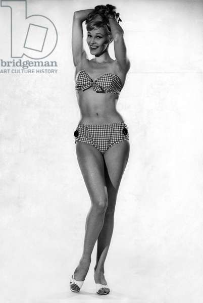 Woman wearing a bikini, 21st June 1962 (b/w photo)