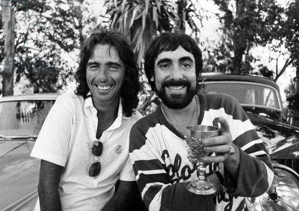 Keith Moon and Alice Cooper, 1976 (b/w photo)