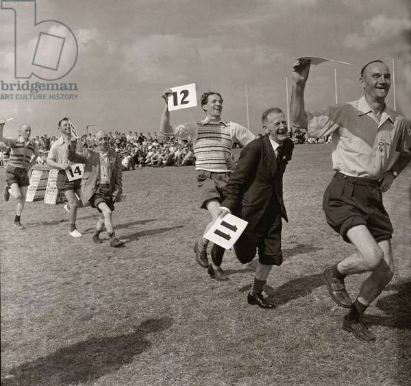 The Butlins Holiday Camp Knobbly Knees Competition, July 1954 (b/w photo)