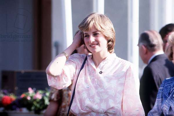 Lady Diana Spencer attending the polo at Windsor, July 1981 (photo)