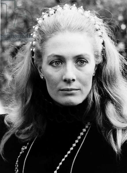 Vanessa Redgrave plays Mary in Mary Queen Of Scots, May 1971 (b/w photo)