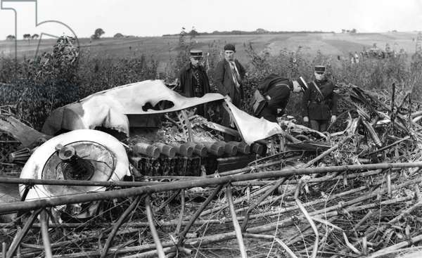 The R101, the largest airship in the world, crashed into the side of a hill at the village of Allone near Paris, shortly after two o'clock this morning and burst into flames. Only seven of those on board were saved. October 1930