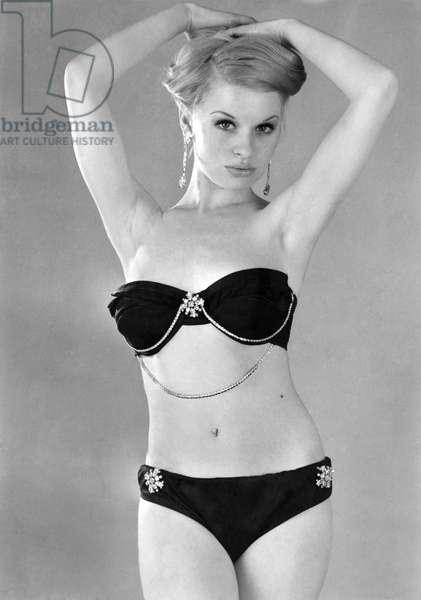 Model wearing a bikini. June 1965 P018085