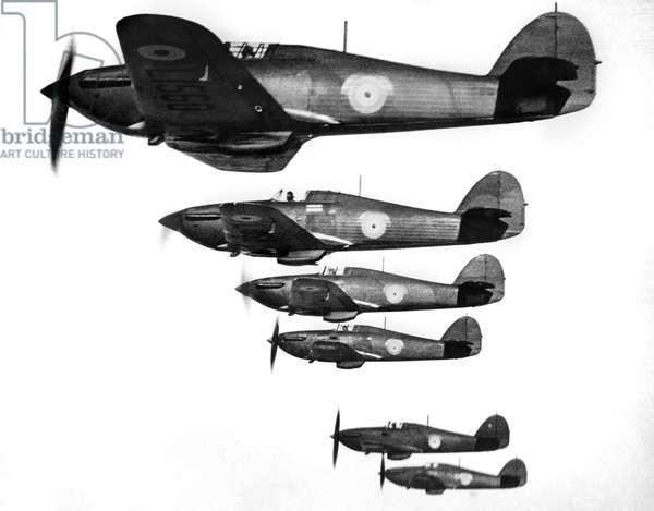 RAF R.A.F. Hawker Hurricanes. March 1938