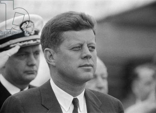 John F. Kennedy at the Vienna Summit, 4th June 1961 (b/w photo)
