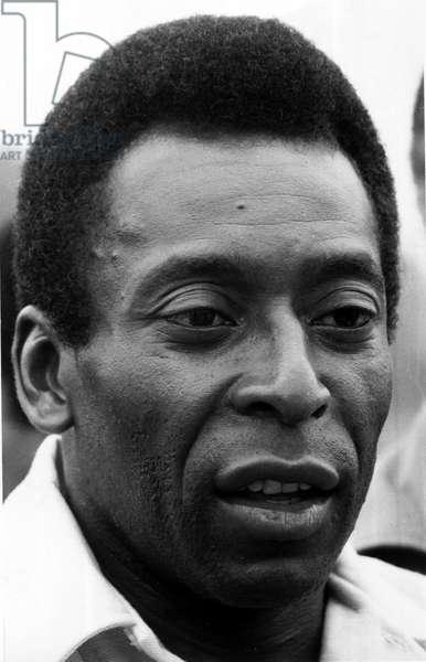 Portrait of former Brazilian football star Pele August 1982 (photo)