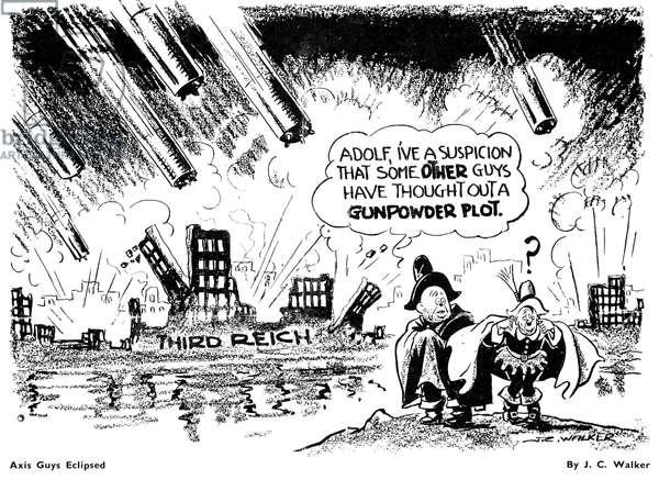 JC Walker World War II Cartoon 'Axis Guys Eclipsed', November 1944 (litho)