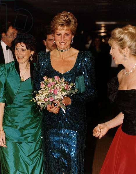 Princess Diana and Lady Kanga at a charity ball, December 1991 (photo)