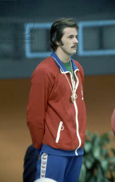 David Wilkie, Olympic Champion, 200 metre breaststroke, Montreal Olympics, Canada, Saturday 24th July 1976 (photo)