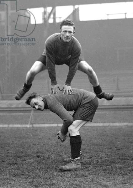 Clapton Orient F.C. in training. Lawrence and Galbraith. DM17214. c.1927