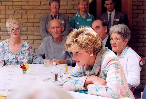 Princess Diana the Princess of Wales visiting St Oswalds Hospice in Gosforth. 5th August 1992