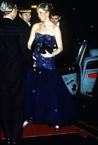 One of the dresses auctioned in New York, Diana Princess of Wales, April 1994 (photo)
