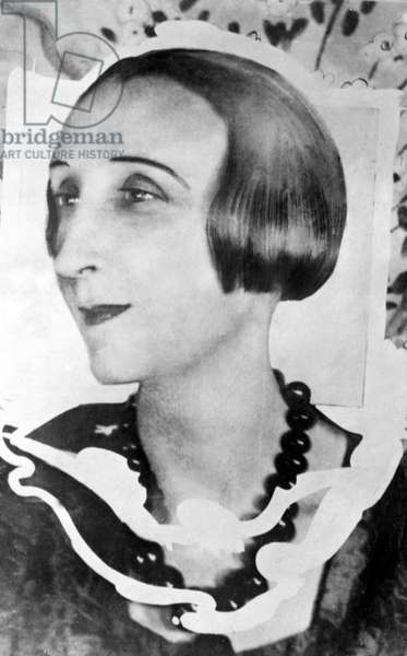 Poet and Writer Edith Sitwell, c.1910 (litho)