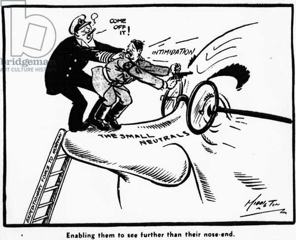 Middleton Birmingham Gazette cartoon: Wednesday 17th April 1940 (b/w photo)