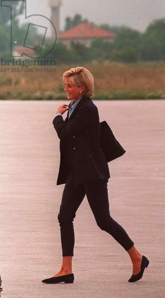 Princess Diana in Bosnia, August 1997 (photo)