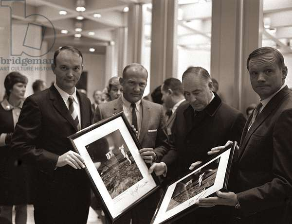 NASA Apollo XI Astronauts visit London, October 1969 (b/w photo)