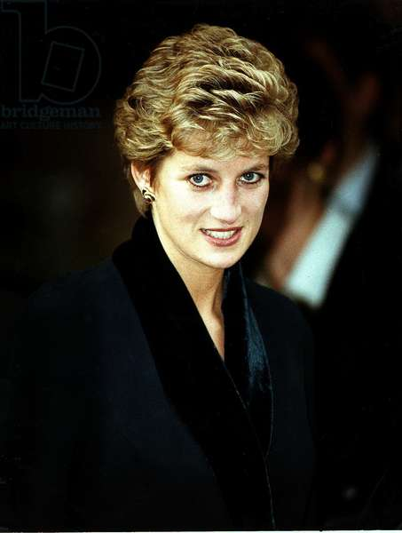 Princess Diana at the Relaunch of Birthright charity, November 1993 (photo)
