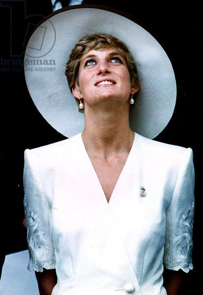 Diana Princess of Wales for the  British Gulf troops in London 21st June  1991 (photo)