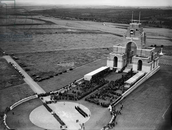 Thiepval Memorial to the Missing of the Somme, France, 1932 (b/w photo)
