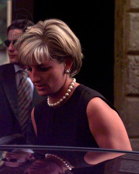 Princess Diana Leaves Gianni Versace's home, July 1997 (photo)