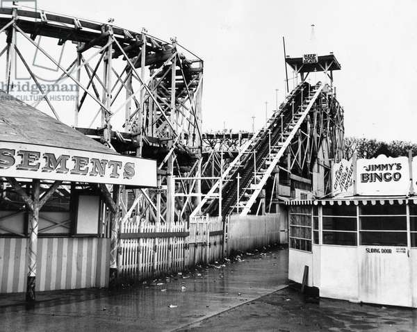 The Spanish City amusement park in Whitley Bay - the rollercoaster, c.1960