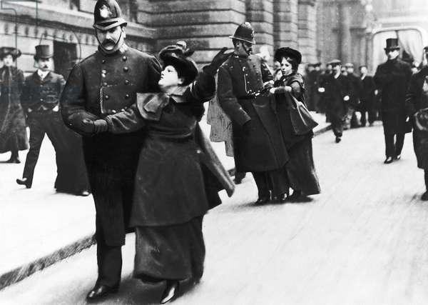 Suffragettes Under Arrest May 1906