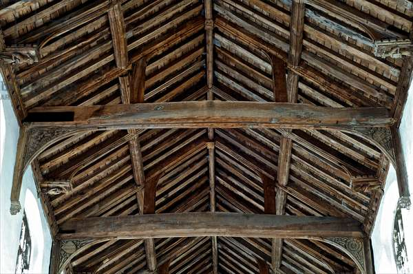 The angel roof at St. Mary's Magdalene, Wiggenhall, Norfolk, c. first half of 15th century (photo)