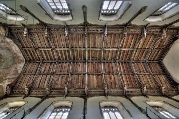 Landscape oriented view of the angel roof at St. Mary's, North Creake, Norfolk. , Early 15th century? (photo)