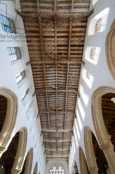 View of the angel roof at Holy Trinity, Blythburgh, Suffolk, 15th century (photo)