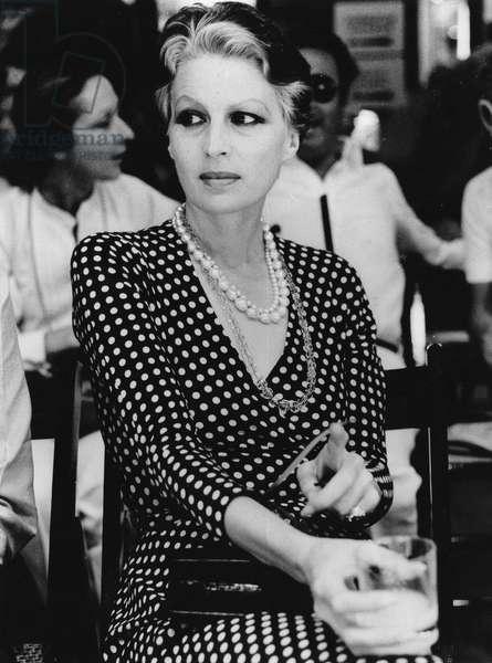 Silvana Mangano, Rome, Italiy, 1974 (b/w photo)