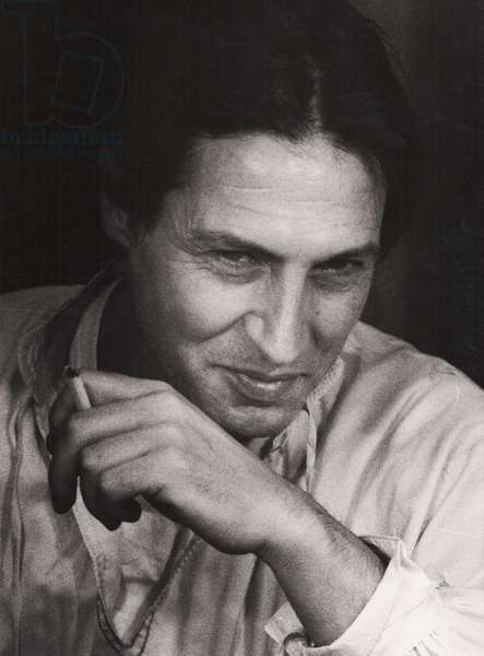 Carlo Cecchi, Milan, Italy, 1983 (b/w photo)