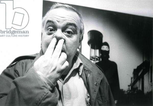 Alfa Castaldi, Milan, Italy, 1987 (b/w photo)