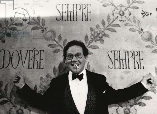Philippe Daverio, Milan, Italy, 1992 (b/w photo)
