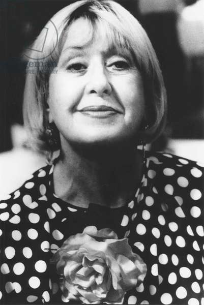 Natalia Aspesi, Milan, Italy, 1986 (b/w photo)