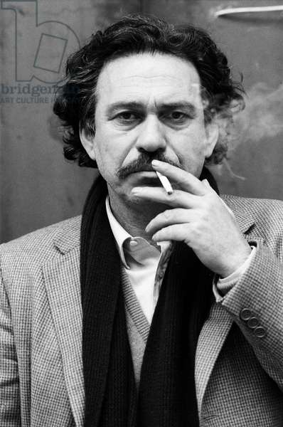 Jannis Kounellis, Italy, 1988 (b/w photo)