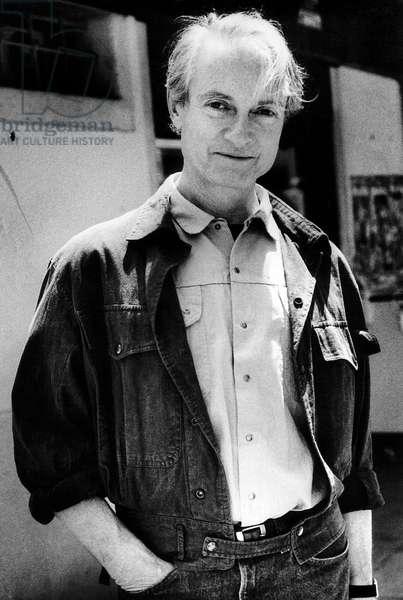 Roy Lichtenstein, Venice, Italy, 1984 (b/w photo)