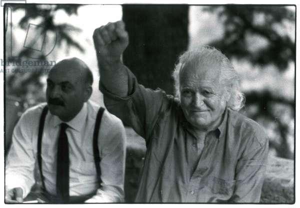 Salvatore Ala and Mario Merz, Italy, 1970s (b/w photo)