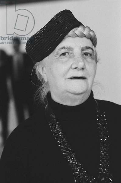 Carol Rama, Milan, Italy, 1983 (b/w photo)