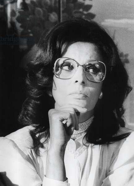 Sophia Loren, Milan, Italy, 1990-99 (b/w photo)